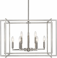 Golden Lighting 6070-9-PW-PW Tribeca Contemporary Pewter 26  Pendant Light