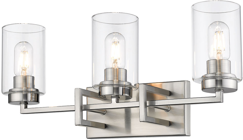 Golden Lighting 6070-BA3-PW-PW Tribeca Contemporary Pewter ...