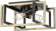 Golden Lighting 6070-FM-BLK-AB Tribeca Modern Black Flush Lighting