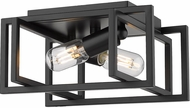 Golden Lighting 6070-FM-BLK-BLK Tribeca Contemporary Black Flush Mount Lighting