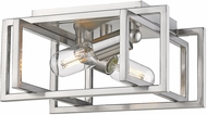 Golden Lighting 6070-FM-PW-PW Tribeca Contemporary Pewter Flush Ceiling Light Fixture