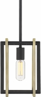Golden Lighting 6070-M1L-BLK-AB Tribeca Modern Black Mini Lighting Pendant