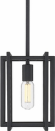 Golden Lighting 6070-M1L-BLK-BLK Tribeca Contemporary Black Mini Pendant Lamp