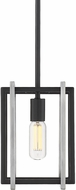 Golden Lighting 6070-M1L-BLK-PW Tribeca Modern Black Mini Hanging Lamp
