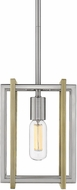 Golden Lighting 6070-M1L-PW-AB Tribeca Contemporary Pewter Mini Hanging Light