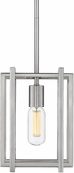 Golden Lighting 6070-M1L-PW-PW Tribeca Contemporary Pewter Mini Pendant Lighting Fixture