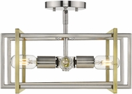 Golden Lighting 6070-SF-PW-AB Tribeca Contemporary Pewter Overhead Lighting Fixture