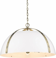 Golden Lighting 6928-5P-AB-WHT Aldrich Modern Aged Brass Hanging Light