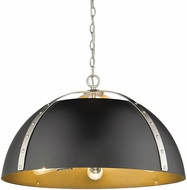 Golden Lighting 6928-5P-PW-BLK Aldrich Contemporary Pewter Pendant Light Fixture