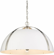 Golden Lighting 6928-5P-PW-WHT Aldrich Modern Pewter Pendant Lighting Fixture