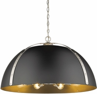 Golden Lighting 6928-8P-PW-BLK Aldrich Contemporary Pewter Pendant Hanging Light