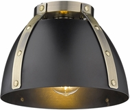 Golden Lighting 6928-FM-AB-BLK Aldrich Contemporary Aged Brass Overhead Light Fixture