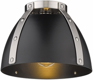 Golden Lighting 6928-FM-PW-BLK Aldrich Contemporary Pewter Ceiling Lighting