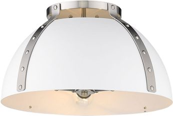 Golden Lighting 6928-FM18-PW-WHT Aldrich Modern Pewter Home Ceiling Lighting