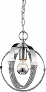 Golden Lighting 7001-M1L-CH Carter Modern Chrome Mini Lighting Pendant