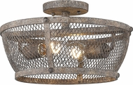 Golden Lighting 7019-SF-PR Calgary Pebbled Rust Overhead Light Fixture