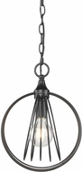 Golden Lighting 7035-M1L-BLK Quinn Modern Black Mini Hanging Light