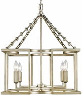 Golden Lighting 7151-4-WG Bellare Modern White Gold Mini Chandelier Light