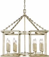 Golden Lighting 7151-8-WG Bellare Contemporary White Gold Chandelier Lighting