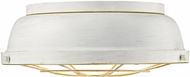 Golden Lighting 7312-FM-FW Bartlett French White Ceiling Lighting Fixture