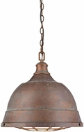 Golden Lighting 7312-L-CP Bartlett Nautical Copper Patina Hanging Lamp
