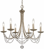 Golden Lighting 7644-6-GA Mirabella Golden Aura Chandelier Light