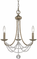 Golden Lighting 7644-M3-GA Mirabella Golden Aura Mini Lighting Chandelier
