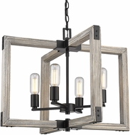 Golden Lighting 7808-4-BLK Lowell Modern Black Hanging Pendant Lighting