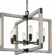 Golden Lighting 7808-6-BLK Lowell Modern Black Hanging Pendant Light