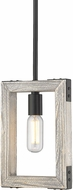 Golden Lighting 7808-M1L-BLK Lowell Contemporary Black Mini Pendant Hanging Light