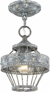 Golden Lighting 7856-1SF-VP Ferris Blue Verde Patina Mini Drop Ceiling Lighting