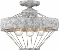 Golden Lighting 7856-SF-OY Ferris Old World Oyster Ceiling Light Fixture