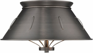 Golden Lighting 7917-FM-AS Whitaker Contemporary Aged Steel Flush Mount Lighting Fixture