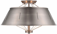 Golden Lighting 7917-SF-AS Whitaker Aged Steel Flush Lighting
