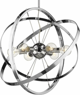 Golden Lighting 7936-6-CH-CH-CH Atom Modern Chrome Ceiling Pendant Light
