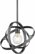 Golden Lighting 7936-M-BS-BS-BS Atom Contemporary Brushed Steel Lighting Pendant