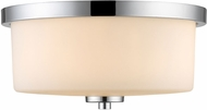 Golden Lighting 8037-FM-CH-OP Evette Chrome Ceiling Light Fixture