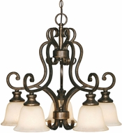 Golden Lighting 8063-D5-BUS Heartwood Burnt Sienna Chandelier Light