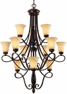 Golden Lighting 8106-363-CDB Torbellino Cordoban Bronze Chandelier Lighting