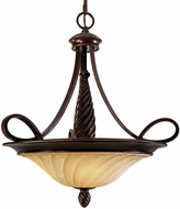 Golden Lighting 8106-3P-CDB Torbellino Cordoban Bronze Hanging Light Fixture