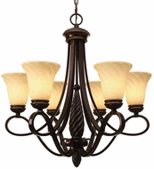 Golden Lighting 8106-6-CDB Torbellino Cordoban Bronze Lighting Chandelier