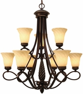 Golden Lighting 8106-9-CDB Torbellino Cordoban Bronze Chandelier Lamp