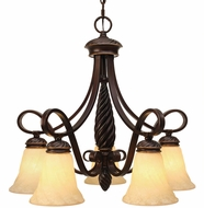 Golden Lighting 8106-D5-CDB Torbellino Cordoban Bronze Mini Chandelier Light