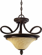 Golden Lighting 8106-SF-CDB Torbellino Cordoban Bronze Ceiling Light Pendant / Ceiling Light