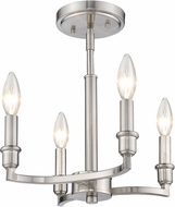 Golden Lighting 8209-SF-PW Ellyn Contemporary Pewter Flush Mount Lighting