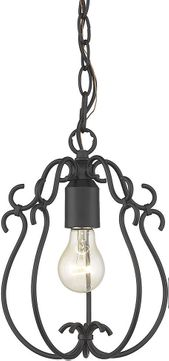 Golden Lighting 8314-M1L NB Suzette Natural Black Mini Pendant Lamp