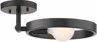 Golden Lighting 8330-1SF-BLK Sloane Modern Black Overhead Lighting