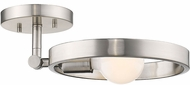 Golden Lighting 8330-1SF-PW Sloane Contemporary Pewter Flush Mount Light Fixture