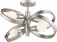 Golden Lighting 8330-4SF-PW Sloane Contemporary Pewter Home Ceiling Lighting