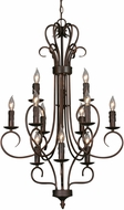 Golden Lighting 8512-RBZ Multi-Family Rubbed Bronze Mini Chandelier Light